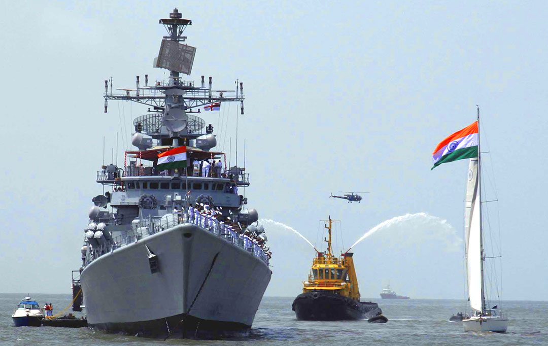 Indian Navy ship at sea