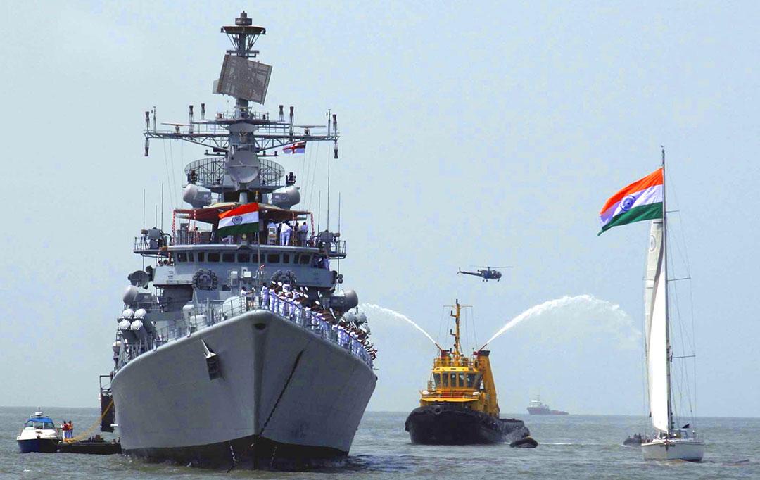 Indian Navy ship at sea